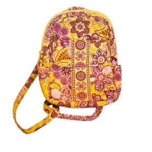 Vera Bradley Yellow/Pink Floral Small Backpack